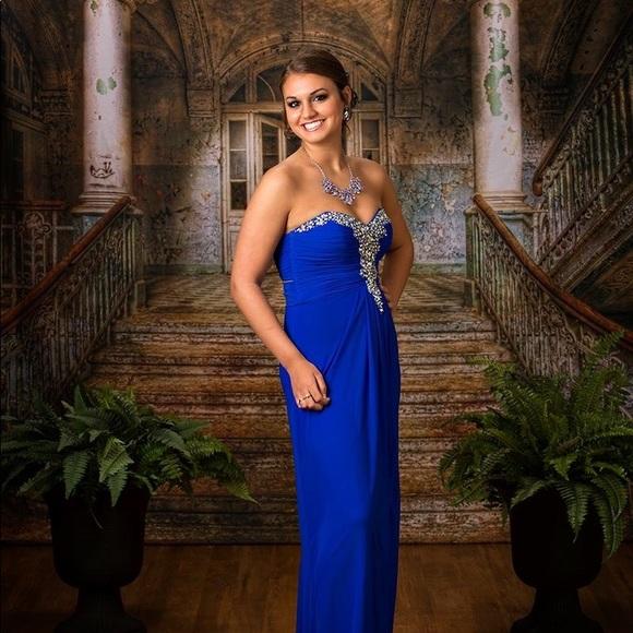 Dresses | Striptease Blue Chiffon Dress | Poshmark